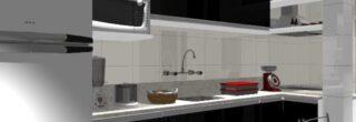 cozinha planejada preta e branca 6