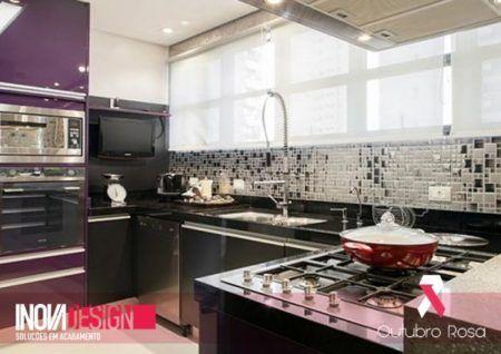 cozinhas decoradas com pastilhas de inox 1