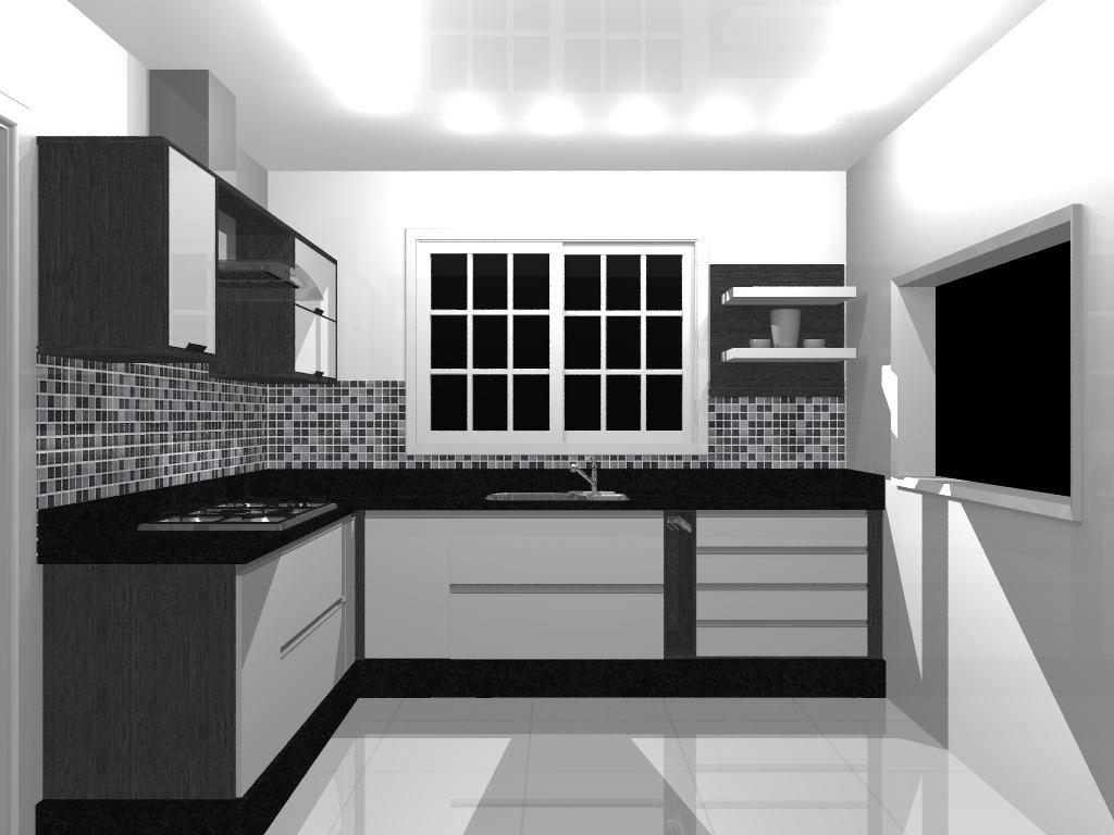Cozinhas Decoradas Com Pastilhas Pretas Bela Feliz ~ Cozinha Decorada Com Pastilhas