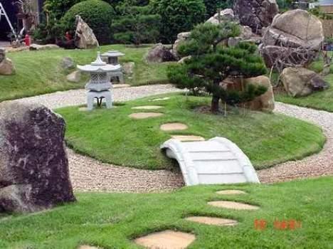 Jardim Japonês bem decorado