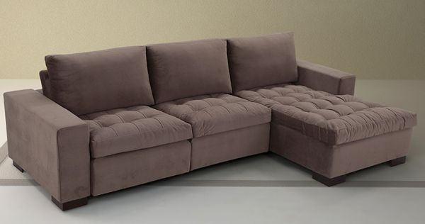 Enjoyable Sofa Com Chaise Retratil 3 Lugares Bela Feliz Forskolin Free Trial Chair Design Images Forskolin Free Trialorg
