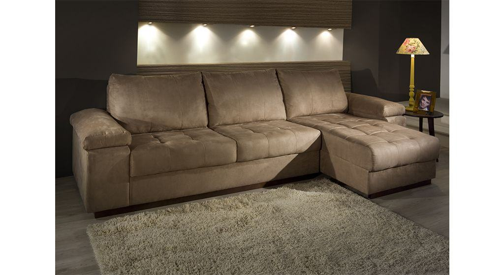 Peachy Sofa Com Chaise Retratil 3 Lugares Bela Feliz Machost Co Dining Chair Design Ideas Machostcouk