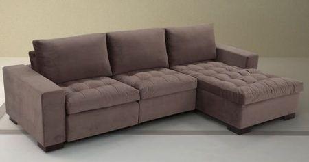 sof com chaise retr til 2 e 3 lugares bela feliz. Black Bedroom Furniture Sets. Home Design Ideas
