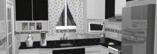 cozinha planejada preta e branca 10