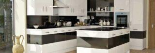 cozinha planejada preta e branca 12