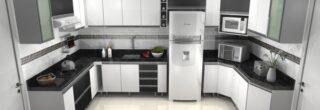 cozinha planejada preta e branca 8