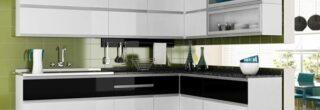 cozinha planejada preta e branca 9