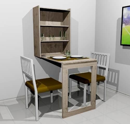 Mesa Em Parede ~ Mesa dobrável de parede para ap pequeno Bela& Feliz