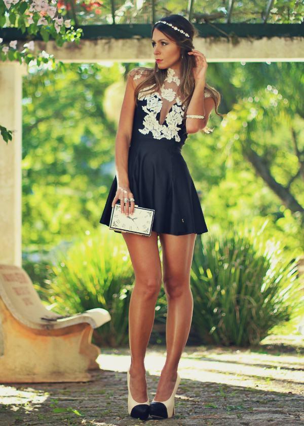 vestidos curtos para balada com sapato de salto