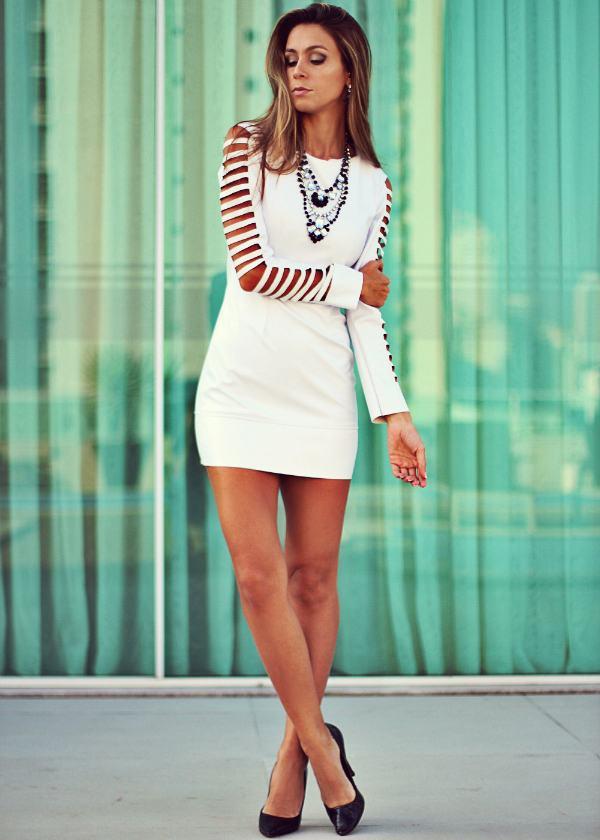 vestidos curtos para balada modelo branco