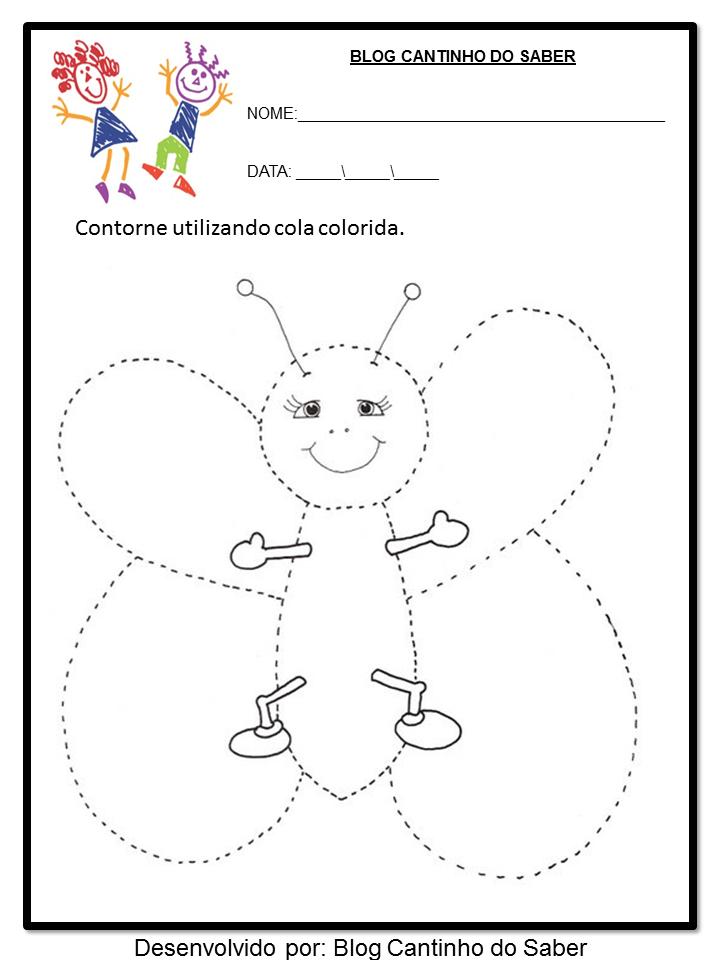 Fabuloso Atividades de educação infantil para volta as aulas você pode  IU95