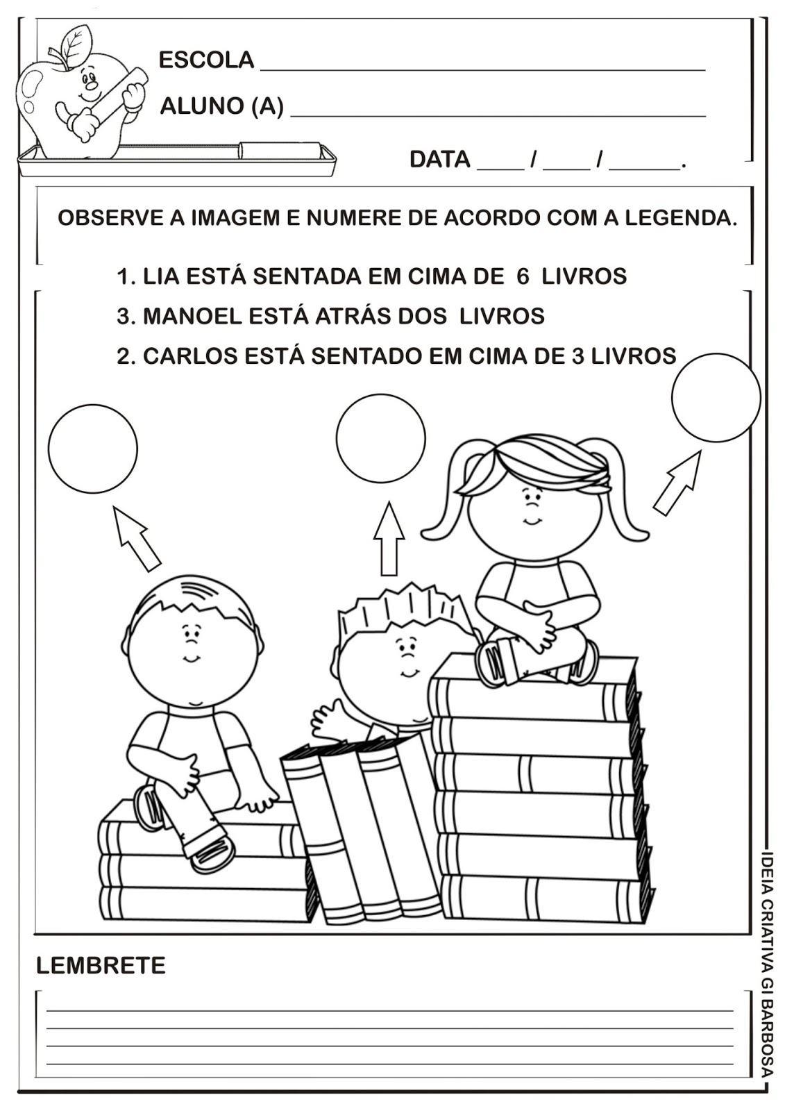 Favoritos Atividades de educação infantil para volta as aulas você pode  LH69