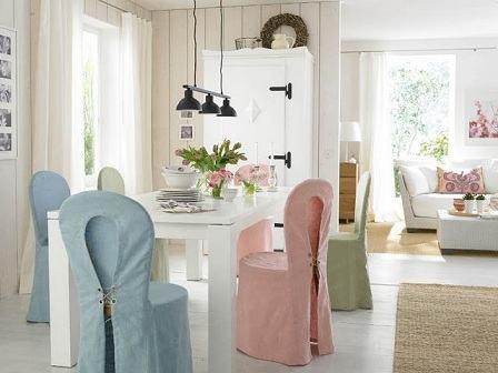 Modelos de capas para cadeira de jantar bela feliz Como hacer un comedor