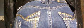 fotos de calcas jeans com spikes
