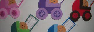 lembrancinhas de bebe em eva cartaozinho