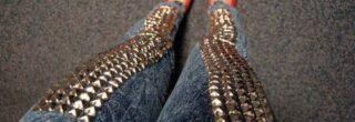 modelos de calcas jeans com spikes