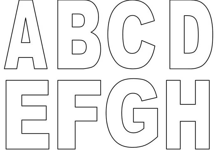Moldes Do Alfabeto Grande Para Imprimir Bela Feliz