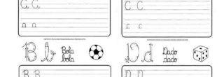 atividades para treinar a caligrafia a b c d
