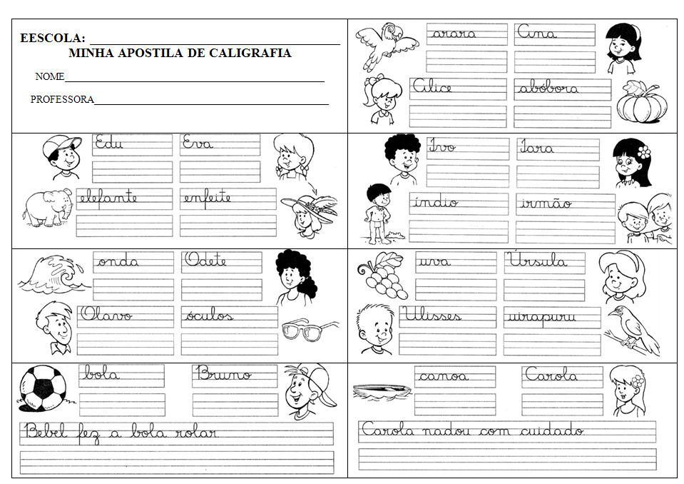 Atividades Para Treinar A Caligrafia E Aprender Escrever Bela
