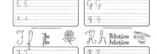 atividades para treinar a caligrafia e f g h