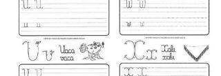 atividades para treinar a caligrafia u v w x