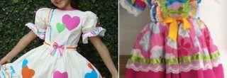 belos vestidos caipira infantil