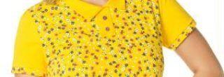 blusinha amarela com estampas