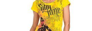 blusinha amarela linda estampada