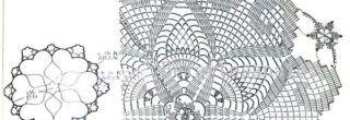 graficos de croche para guardanapos