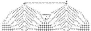 graficos de croche para guardanapos barrado