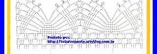graficos de croche para guardanapos bordas