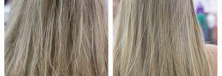 imagens de detox capilar antes e depois