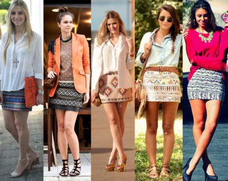 lindos modelos de saias étnicas
