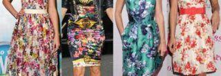 modelos de vestidos estampados