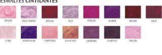 tabela de cores esmalte colorama