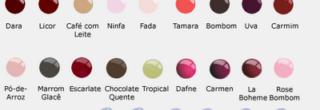 tabela de cores esmalte colorama conheca