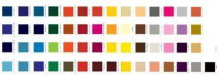 tabela de cores lukscolor epoxi