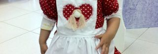 vestidos caipira infantil