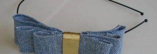 belas tiaras de laço de couro