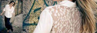 camisas femininas de renda da moda