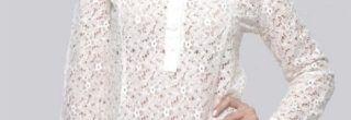camisas femininas de renda de manga longa