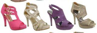 coleção de sandalias salto alto via marte