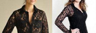 como usar camisas femininas de renda