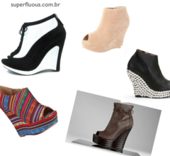 dicas de ankle boot anabela