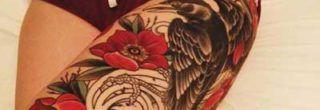dicas de tatuagens de flores na perna