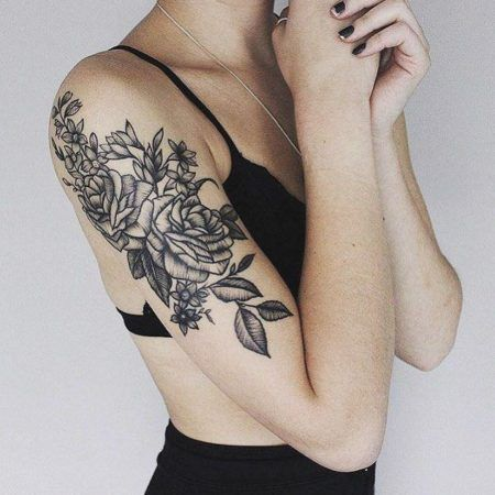 Tatuagens de flores no ombro para mulheres que amam bela for Shoulder piece tattoos tumblr