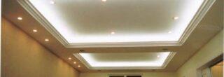 fotos de tetos de gesso com iluminação