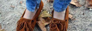 imagens de mocassim feminino com franja