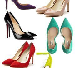 lindos sapato scarpin bico fino