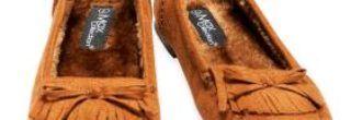 mocassim feminino com franja